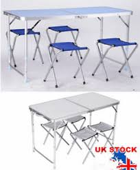 lightweight folding table and chairs adjustable height portable lightweight folding outdoor cing table