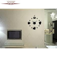 horloges murales cuisine diy café cuisine stickers muraux salon horloge murale mode horloge