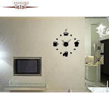 horloge murale cuisine diy café cuisine stickers muraux salon horloge murale mode horloge