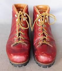 womens walking boots ebay uk vintage 80s heavy survivor boots brown leather booties mountain