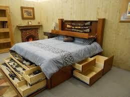 bedroom bed frame with drawers elegant rousing size platform