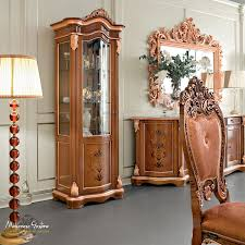 classic china cabinet glass wooden bella vita modenese