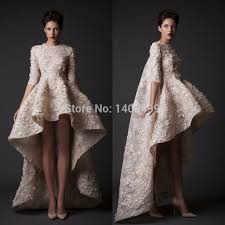 long sleeve lace high low dress ivo hoogveld