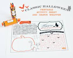 Free Printable Halloween Activity Sheets Halloween Ideas For Party And Treats Anders Ruff