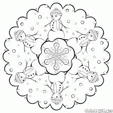 coloring page snowflakes