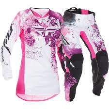 fly racing motocross gear fly racing 2017 ladies mx new kinetic pink purple womens motocross