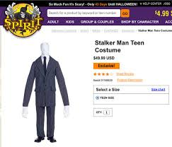 Shop Halloween Costumes Wisconsin Community Outraged Sale Slender Man Halloween