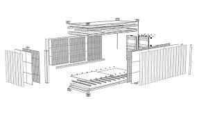 3d model container wire frame youtube