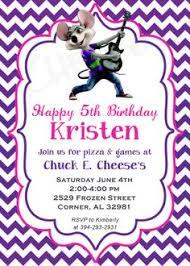 chuck e cheese birthday invitations chuck e cheese birthday