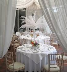 Ostrich Feather Centerpieces Centerpieces All About Weddings Venue Decoration Ceremony