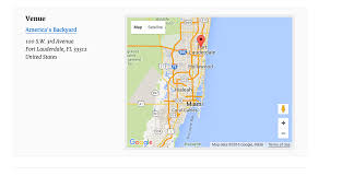 Fort Lauderdale On Map Google Map Not Showing On Single Event Page The Events Calendar
