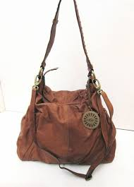 ugg sale handbags xl ugg australia brown leather slouch hobo shoulder crossbody