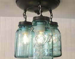 Kitchen Fan Light Fixtures by Mason Jar Ceiling Fan Light Kit Only With New Quarts Rustic