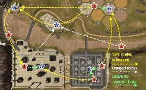 springfield map best routes to capture beacons in war robots springfield map