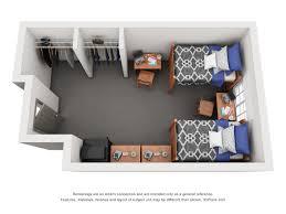 dorm room floor plan orange hall university housing