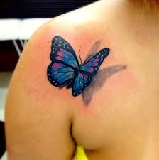 3d butterfly tattoo at chest tattoo for kmxwtattoo