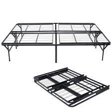 Collapsible Bed Frame Goplus Heavy Duty Folding Bed Platform Mattress Foundation Metal