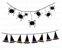 halloween clipart witch halloween bunting halloween clipart digital halloween clip art
