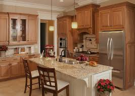 oak cabinets with granite oak cabinets granite countertops kitchen traditional with wood