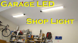 brightest ceiling light fixtures garage led shop light fixture replaces fluorescent youtube