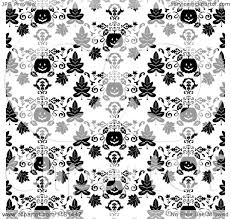 clipart of a black and white halloween pumpkin background