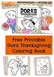 free printable dora thanksgiving coloring pages jinxy kids