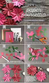 metallic paper poinsettia gift topper lia griffith