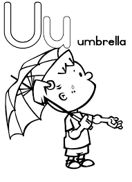 umbrella for learning letter u coloring page bulk color