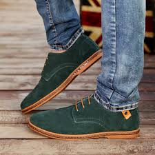 s boots style akexiya fashion shoes suede leather casual flat shoes lace up