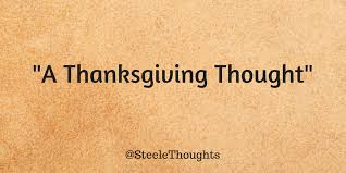 thoughts a thanksgiving thought