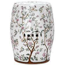 shop safavieh 18 5 in white ceramic barrel chinese garden stool at