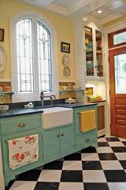 Turquoise Cabinets Kitchen Photo Gallery Checkerboard Kitchen Floors Marble Floor White