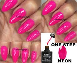 bluesky one step neon 255 barbie bubblegum pink nail gel polish uv