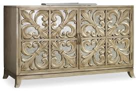 Credenzas And Buffets by Hooker Furniture Melange Fleur De Lis Mirrored Credenza