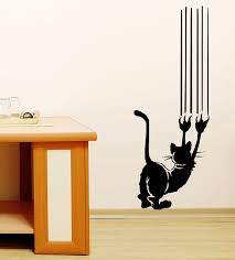 items similar to cat scratch vinyl wall decal art on etsy cat items similar to cat scratch vinyl wall decal art on etsy