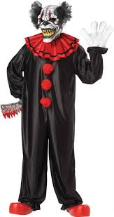 scary clown costumes last laugh clown costume 01143