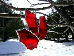 canadian maple leaf stained glass canada150 expats autumn fall