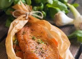 cuisiner un filet de saumon filets de saumon en papillote intermarche belgique