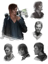 the walking dead daryl dixon sketches by maxkennedy on deviantart