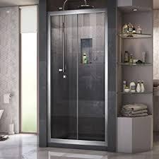 Inward Opening Shower Door Dreamline Butterfly 34 35 1 2 In Width Frameless Bi Fold Shower
