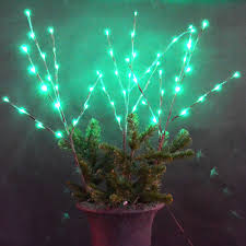 60 led green lights indoor outdoor twig branches