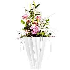 kartell shanghai vase with round tapered shape for flower