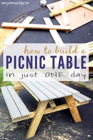 Building A Wood Picnic Table by How To Build A Picnic Table In Just One Day Simple Diy Tutorial