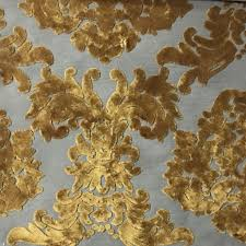 Discount Home Decor Fabric by Florence Palace Damask Pattern Burnout Velvet Upholstery Fabric