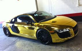 Audi R8 Gold - ymcmb tyga pimps toilet sit with 22 carat gold worth 46 000