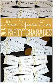 New Years Eve Traditions Printable New Years Eve Party Game Play Charades Or Pictionary