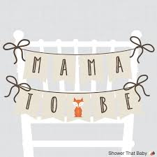 woodland baby shower chair banner mama to be mom