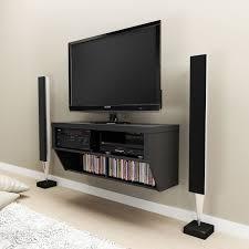 black 42 wide wall mounted av console