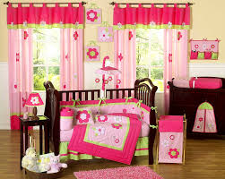 girls pink and green bedding bedroom heavenly baby pink nursery ideas home wall