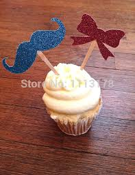 mustache cake topper cheap bow and mustache cupcake toppers gender reveal gender